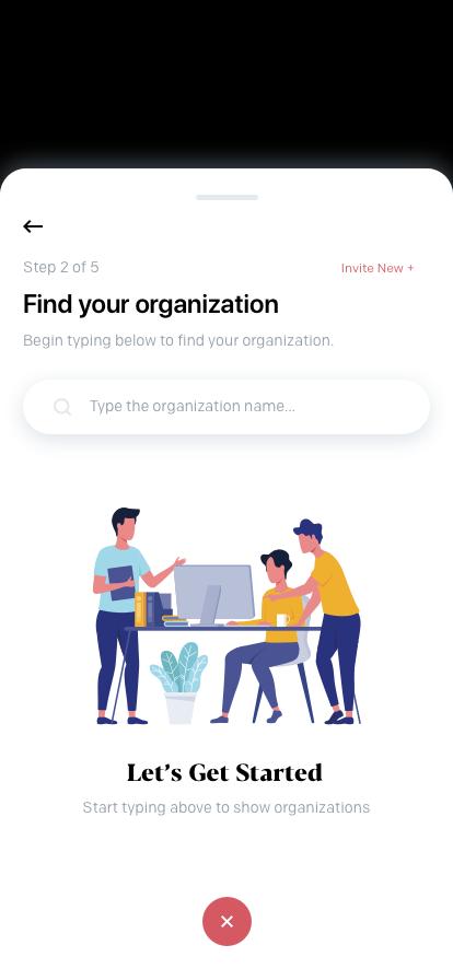 Create Activity (Find Organization - Empty)